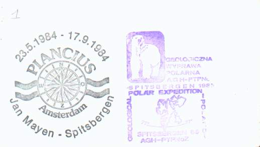 Scan of backside of the Polish Geological Survey Expedition cover.