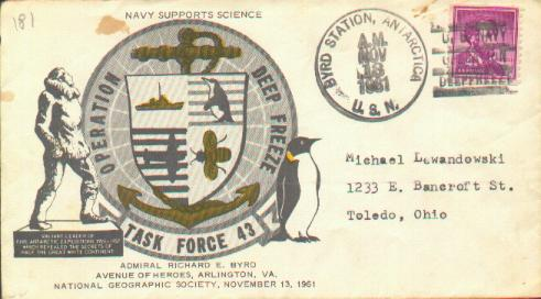 Cacheted cover for Avenue of Heroes in Arlington, Virginia-postmarked at Byrd Station.