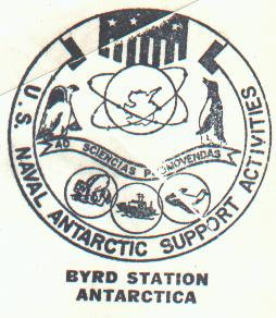 Close-up of the Byrd Station cachet.