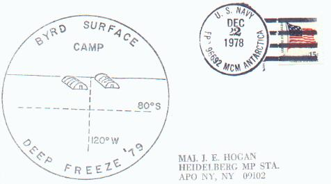 Cacheted cover from Byrd Surface Camp, 1979.