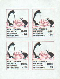 New Zealand cinderella labels for New Zealand Antarctic Programme 1985-6