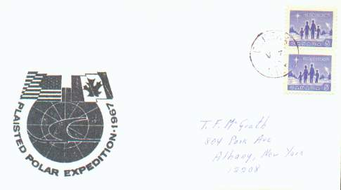 Scan of 1967 Plaisted Expedition polar cover.