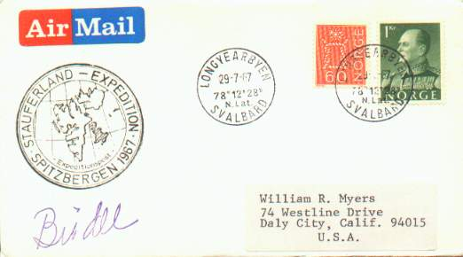Scan of cover from the 1967 Stauferland Expedition to Spitsbergen.