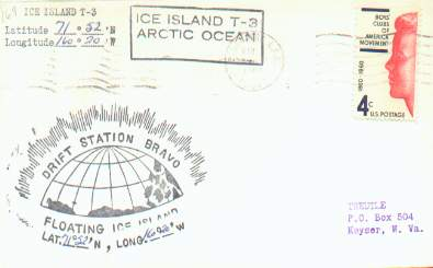 "Scan of cover that contains both the wording ""Ice Island T-3"" and Drift Station Bravo."
