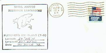 Scan from cover with Fletcher's Ice Island T-3 wording.