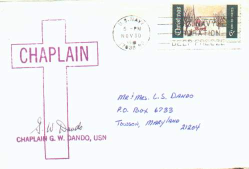 Real mail from Antarctica; appears to have contained a Christmas card.