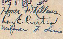 Close-up of signatures on the Lingen cover.