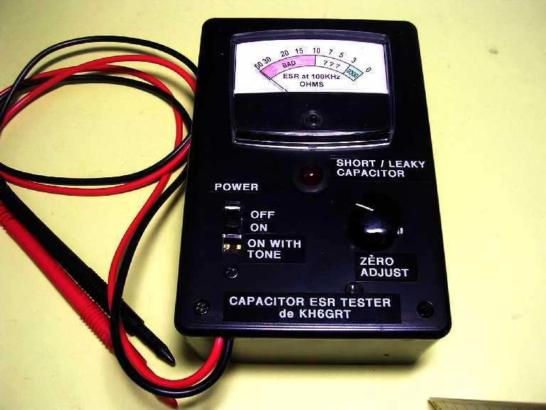 Radio Shack Capacitance Meter : Capacitor esr meter with tone