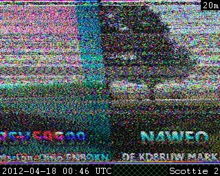 Amateur slow scan tv