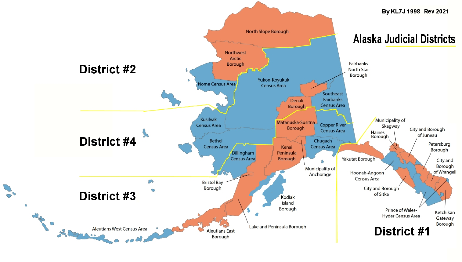Alaska Judicial Districts And County Hunting By Kl7j