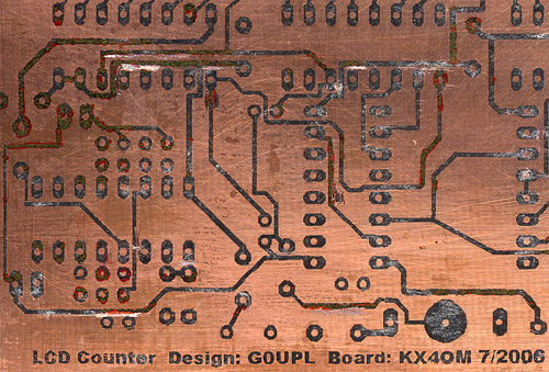 Frequency counter board
