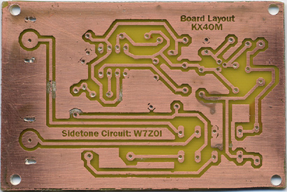 Sidetone and relay board