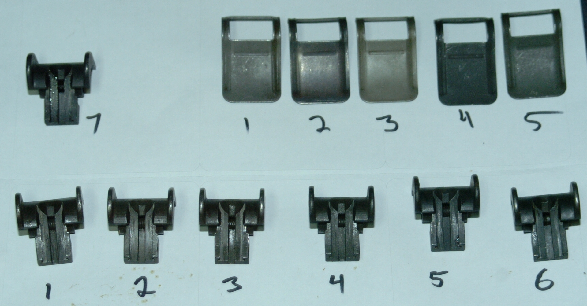 Lockbar Pinions Complete Sa Rear Sight Bases And Sight Covers Cmp