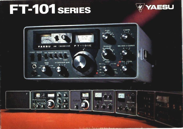 2nd yaesu ft101 series pictured 1st collins series yeasu series