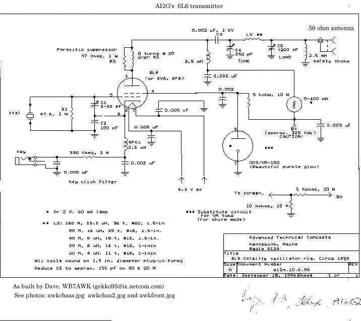 7awk_6l6 Qrp Transceiver Schematic on hf band mini, 40 meter cw,