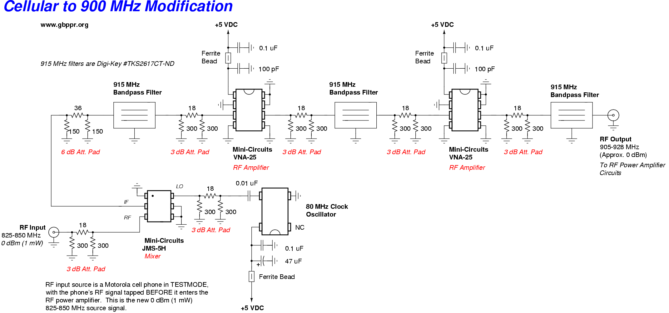 Converting Cellular Phones To 900 Mhz Att Phone Jack Wiring Diagram Schematic