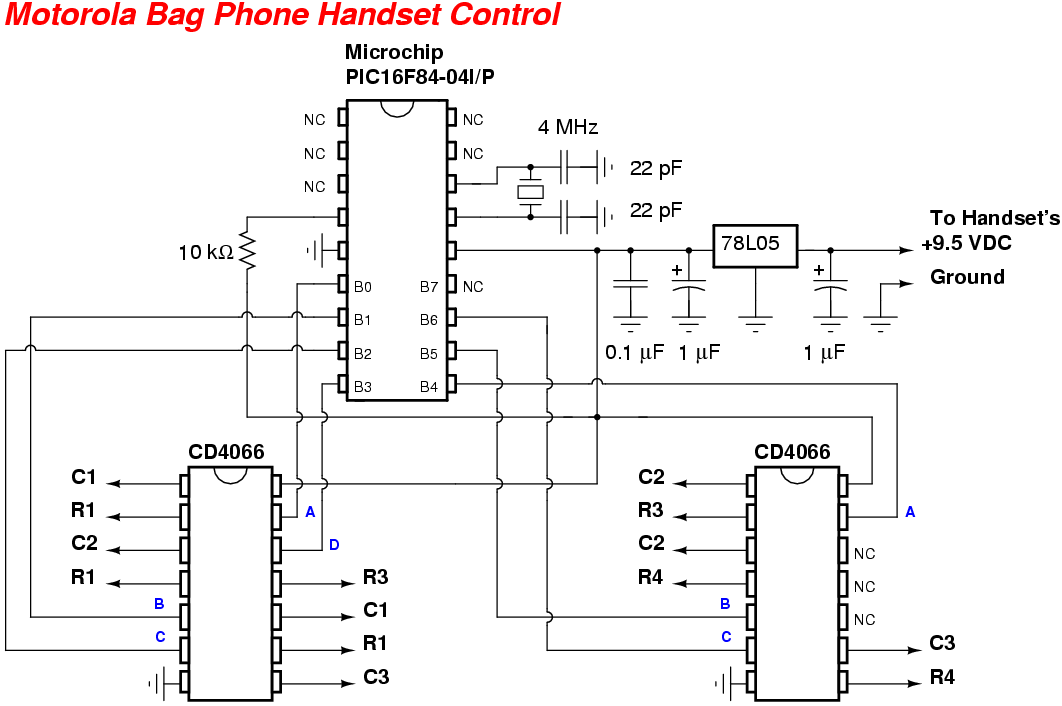motorola bag phone handset control rh qsl net Doorbell Wiring-Diagram Wires telephone handset cable wiring diagram