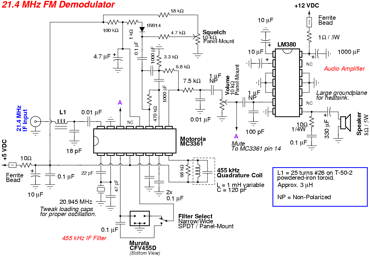Rf Demodulator Schematic Probe Wire Diagrams Pin Diode Switch Circuit Radioelectronicscom 21 4 Mhz Fm
