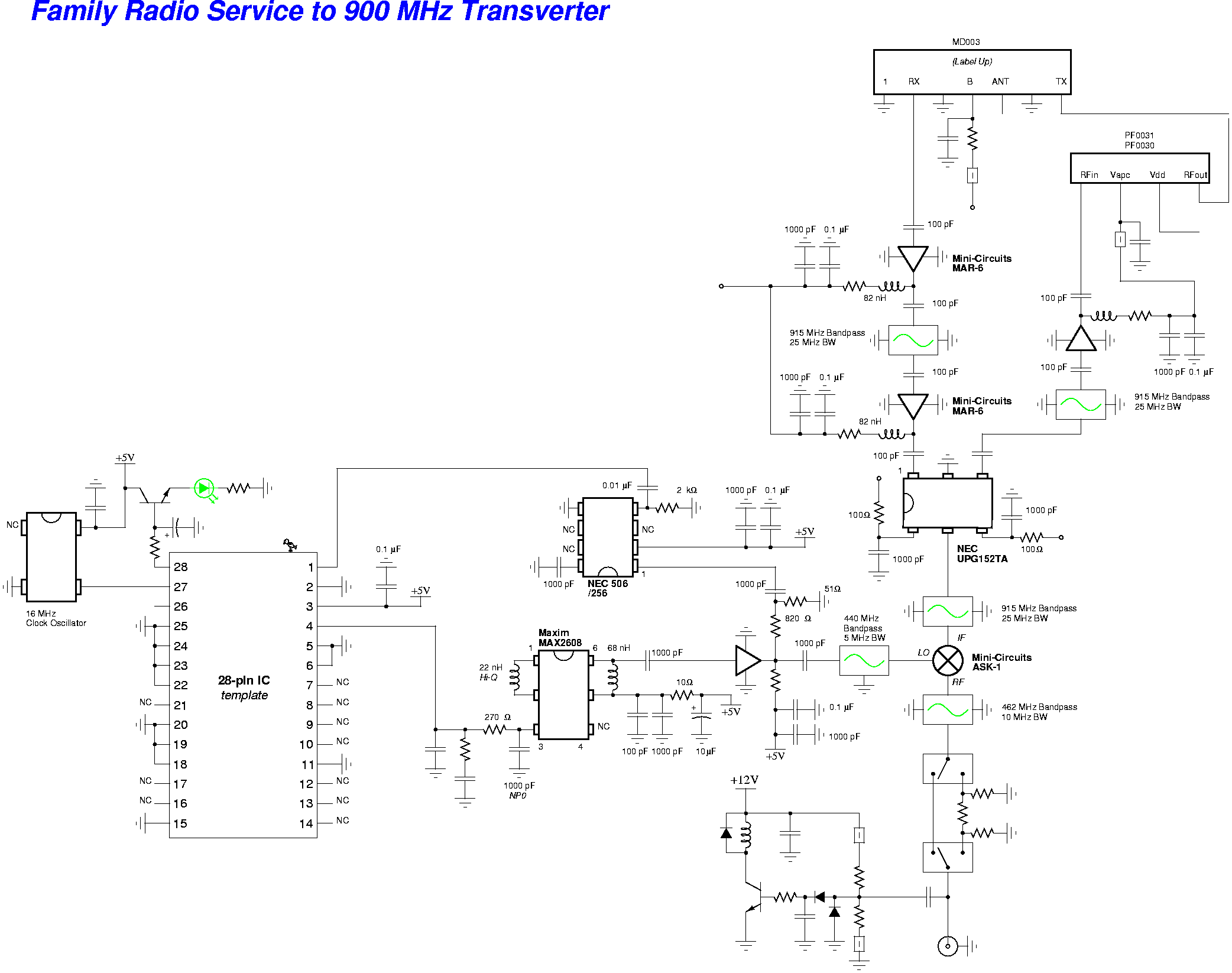 Transceiver Electronic Circuits 3w Fm Transmitter Circuit Diagram Family Radio Service Frs To 900 Mhz Transverter Schematic