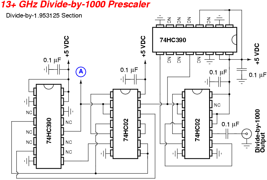 Hi Frequency Counter Ic : Ghz frequency counter prescaler