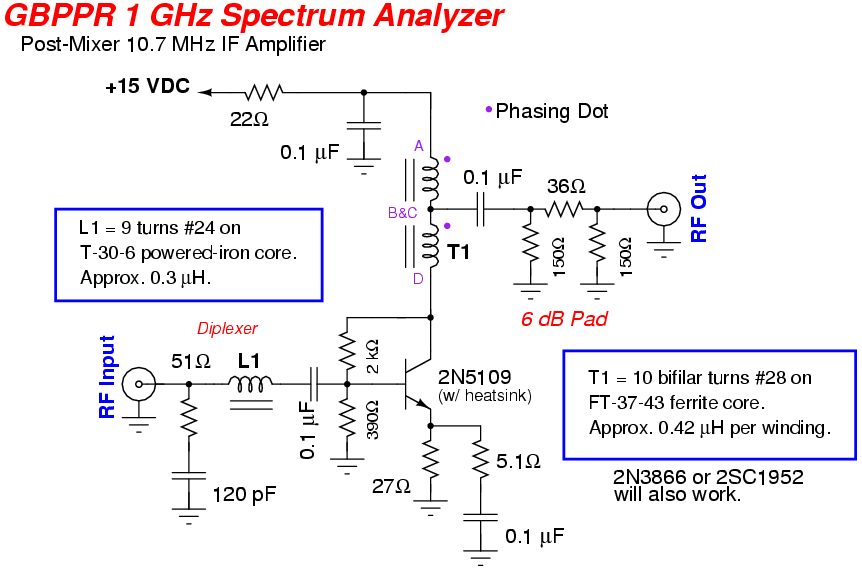 Postmixer on Diode Circuit Schematic