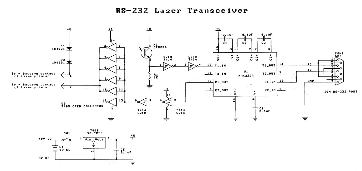 rs 232 laser transceiverFurther Laser Munication Circuit On Laser Diode Circuit Diagram #20