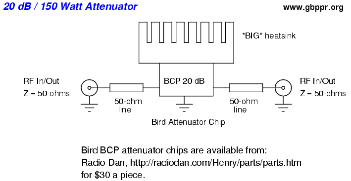 Power Attenuator Schematic