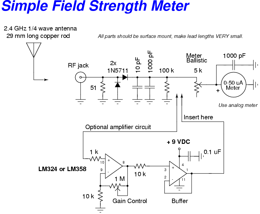 Outstanding 24 Ghz Field Strength Meter Circuit With Optional Amplifier Basic Wiring Digital Resources Remcakbiperorg