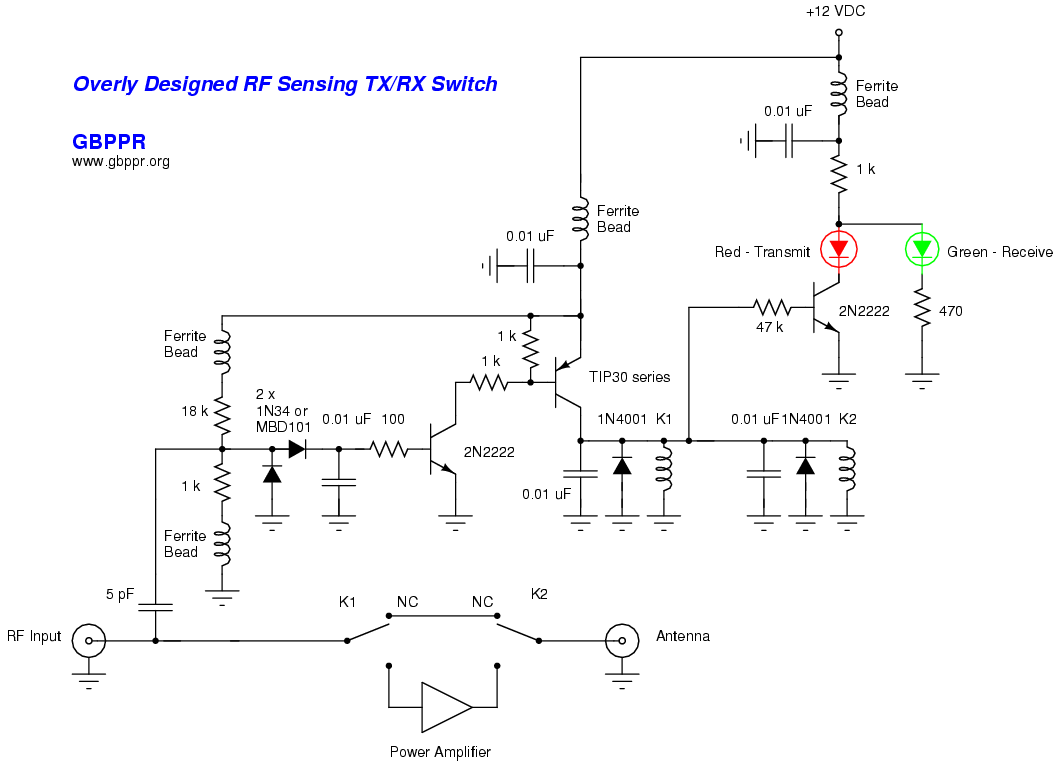 Homebrew Rf Test Equipment And Software Circuit Diagram Of The Dummy Load Sensing Transmit Receive Switching