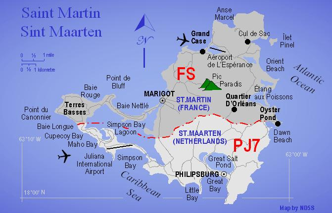 Map Dutch Side Of The Island St Maarten