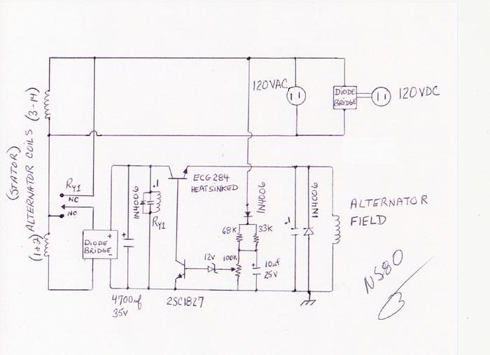 Voltage is regulated by a homebrewed regulator.