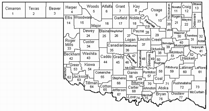 Map Oklahoma Counties Wisconsin Map