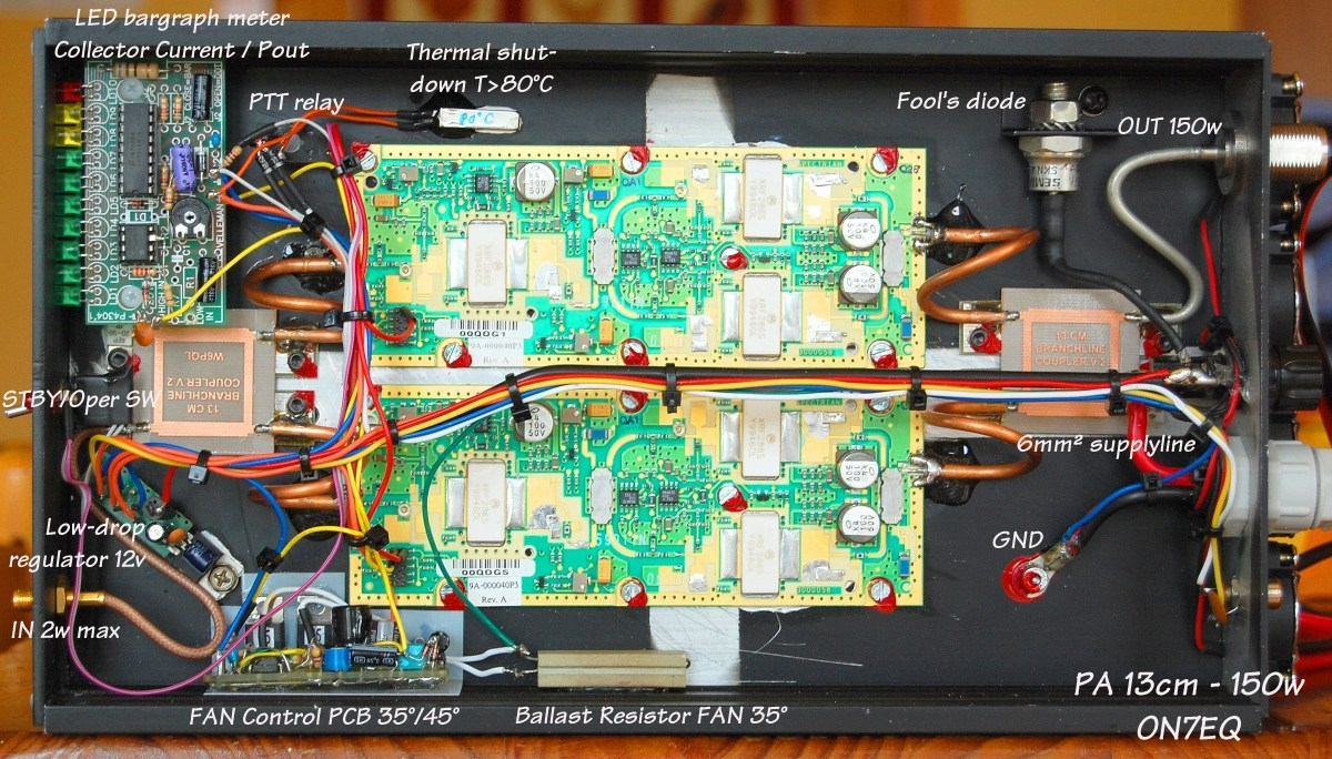 On7eq 13 Cm 23 Ghz 150w Pa How To Connect An Led Bar Graph A Circuit Click