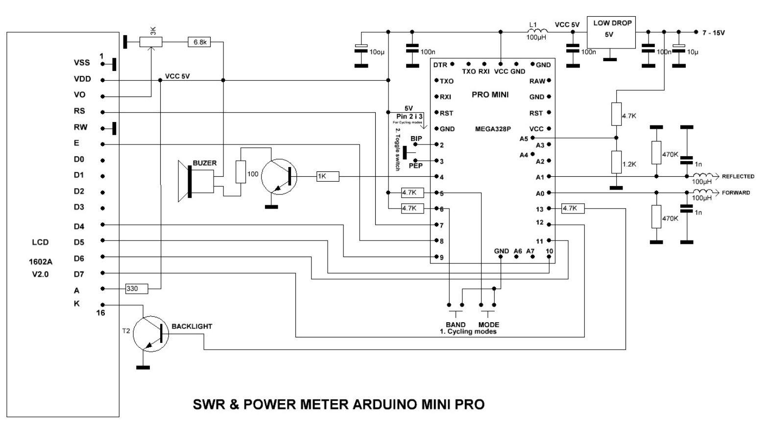 Hf Swr Schematic Wire Data Schema Bass Amp Wiring Diagram Arduino Projects Rh Qsl Net Analyzer