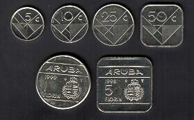 F Coins Jpg 92867 Bytes The Aruban Florin Is Pegged To Us Dollar