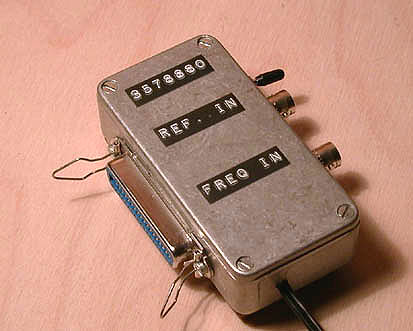 SIMPLE 2 CHIP PC FREQUENCY COUNTER FOR DOS