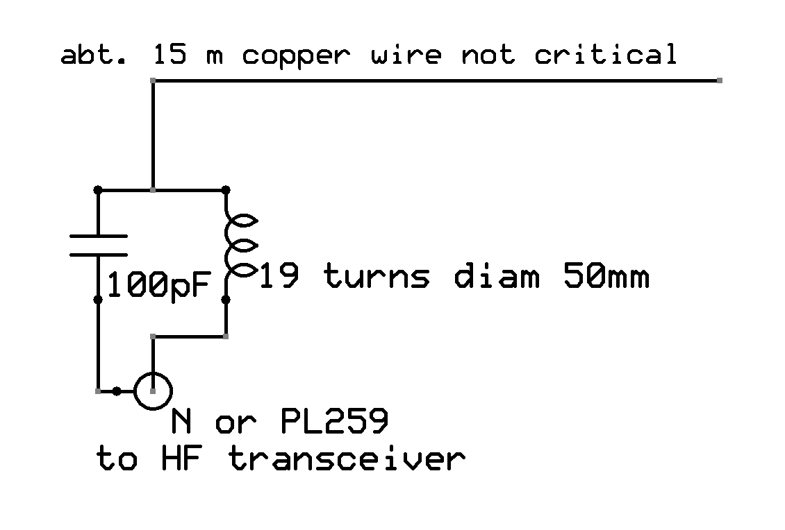 Simple But Effective Half Wave Dipole Copper Wiring Diagram On 16 11 2009 I Wanted To Try Some Tests 37 Mhz 80m Band Therefore Used A Coil Of 10 Turns With The Same Diameter 50mm