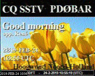24-Feb-2019 10:57:40 UTC de PD0BAR