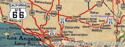 Route On The Air In Los Angeles And Santa Monica - Us 66 map