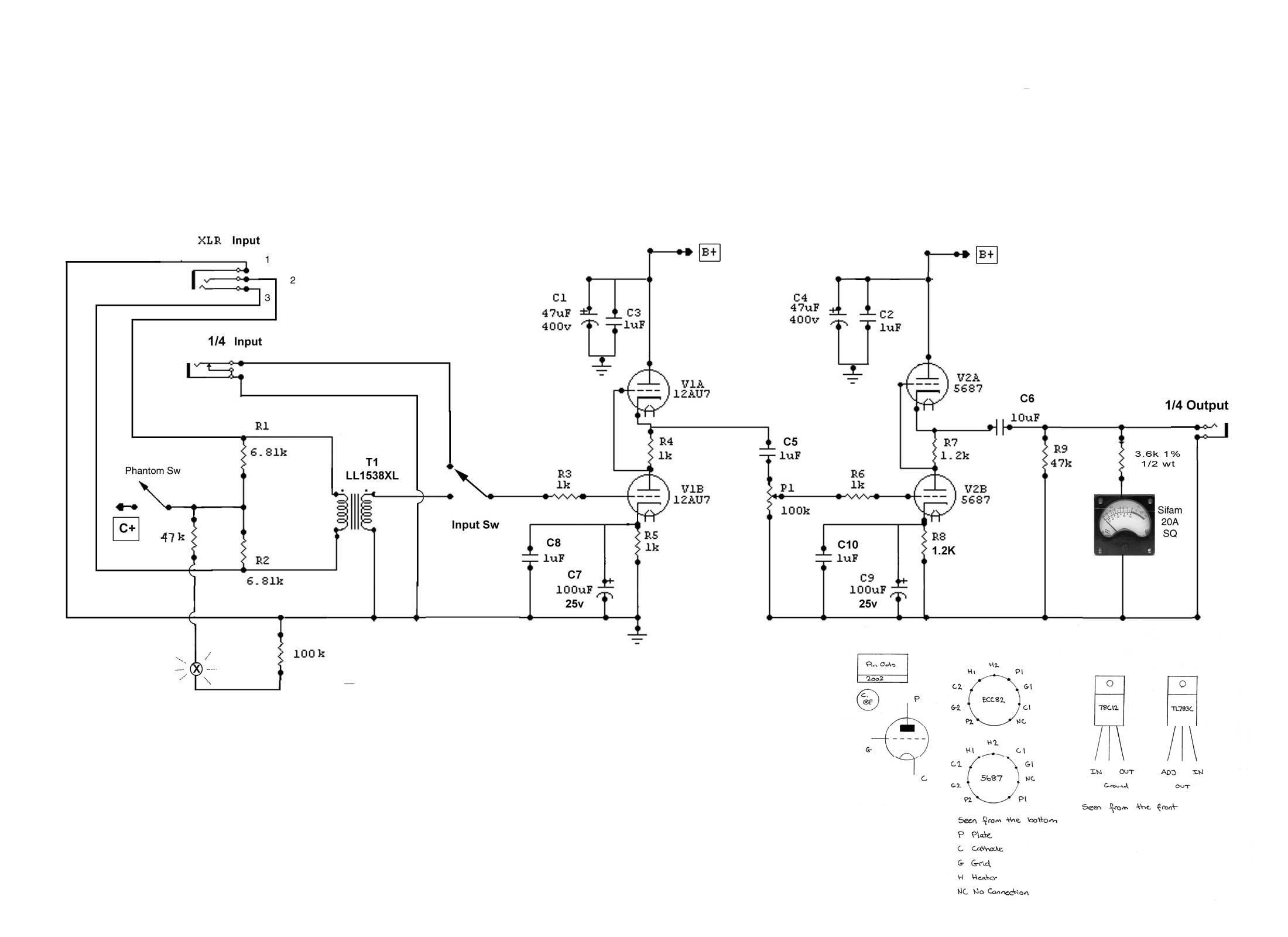 Tube Mic Wiring Diagram Library Pre Amp Diagrams Http Qslnet Sv3eao Preamp