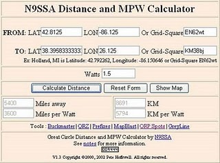 In This Calculator You May Enter Laude And Longitude Or The Grid Locator Of Each Location Watts Click Calculate Distance