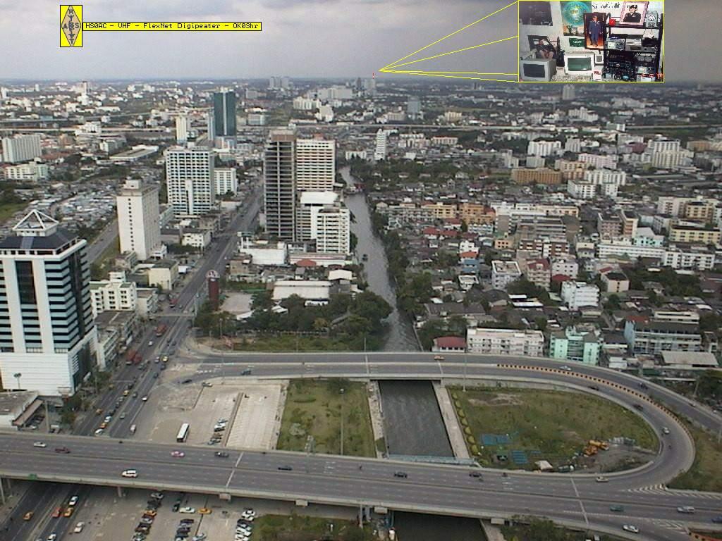 Sirinthon Thailand  city photo : Bangkok from the HS0AC Flexnet ant. site 70m