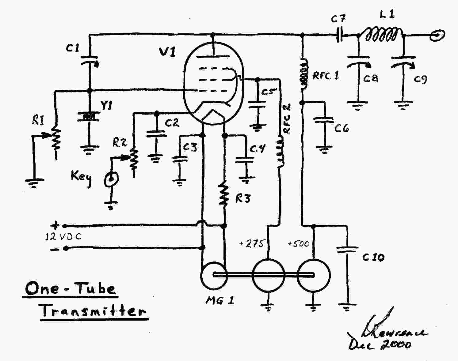 One Tube Radio Schematic Trusted Wiring Diagrams Transistor Observations On The Transmitter