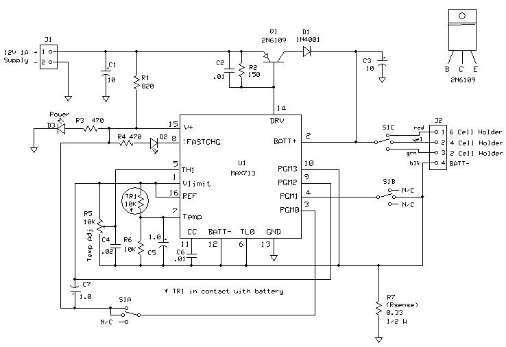 MAX712 NiMH Battery Charger on solar charger schematic, 12 volt fence charger schematic, battery charger schematic, lithium charger schematic, 24vdc 40 amp controller charger schematic, nicad charger schematic, lipo charger schematic, usb charger schematic, car charger schematic, cell charger schematic,
