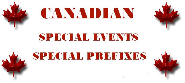 Canadian Special Events and Special Prefix operations