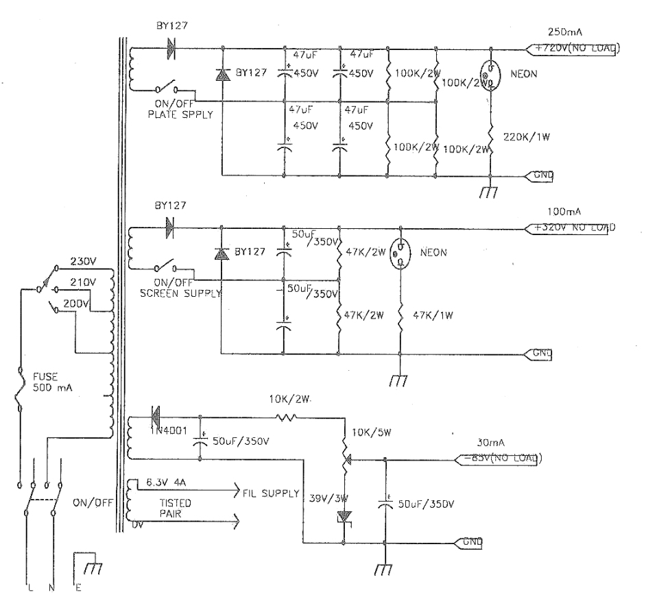 Vu2atn Qro Using 807 Valves Linear Amplifier Schematic Circuit Band Graphic Equalizer Electronic Diagram