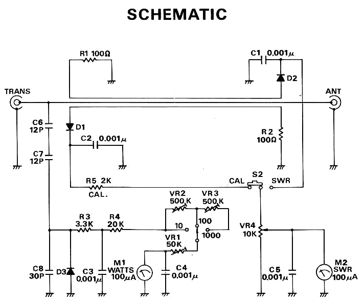 swr meter schematic: Micronta 520a swr meter
