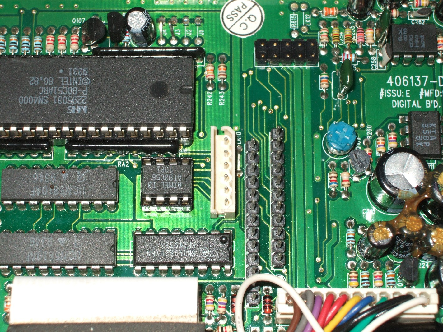 Ge Monogram Maxon Microphone Wiring Diagram The Programming Header In Center Of Main Pcb It Is White Connector