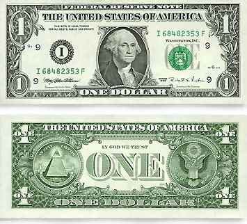 The U.S One Dollar Bill