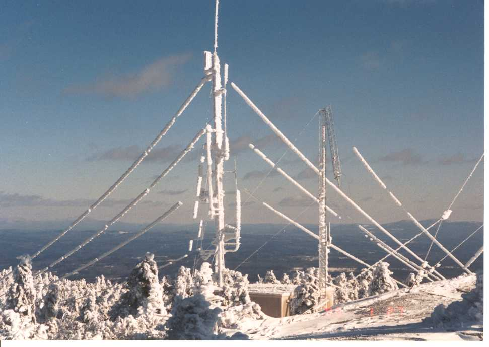 Summit of Mountain Covered with Ice